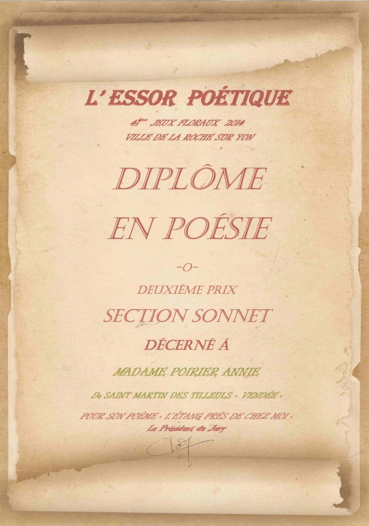Second prix du sonnet